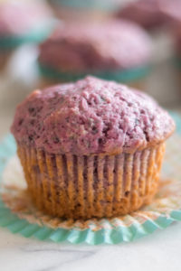 These Purple Sweet Potatoes are a moist, tender muffin! #muffins #vegan