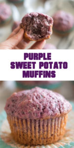 Purple Sweet Potato Muffins are a moist, tender muffin that is delicious! #muffin #vegan