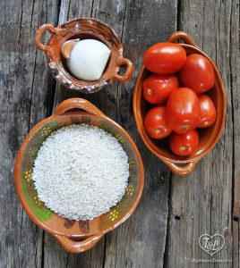 Basic Mexican Red Rice. So simple + easy to make authentic Mexican Rice!