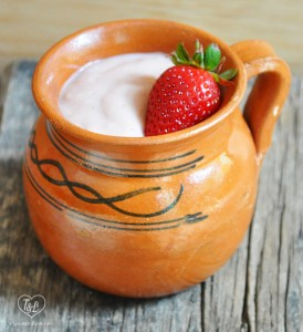 Strawberry Atole: A traditional Mexican warm beverage served during the holidays!