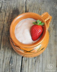 Strawberry Atole: a traditional Mexican warm beverage served for breakfast or during the evening