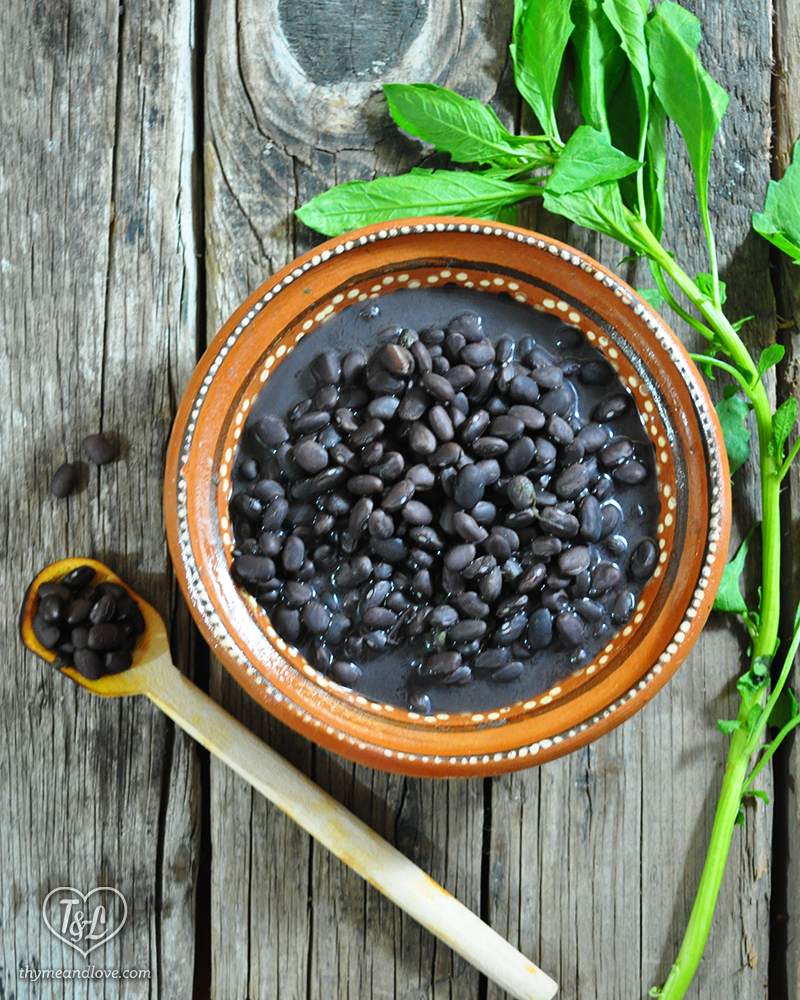 simple mexican black beans