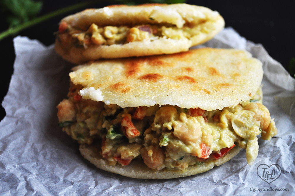 Avocado + Chickpea Arepas