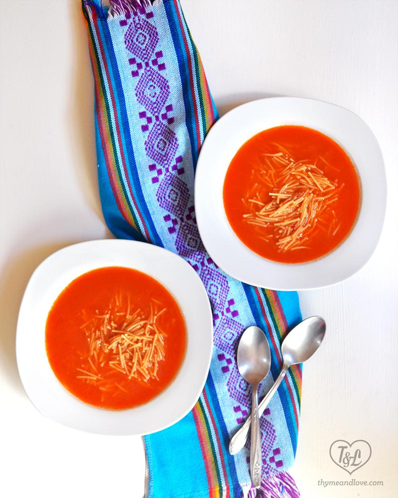 Sopa de Fideo {Mexican Noodle Soup}