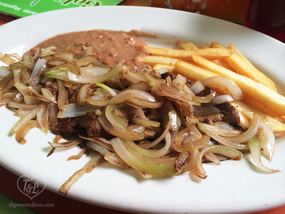 Vegan Bistec at Gold Taco in Mexico City