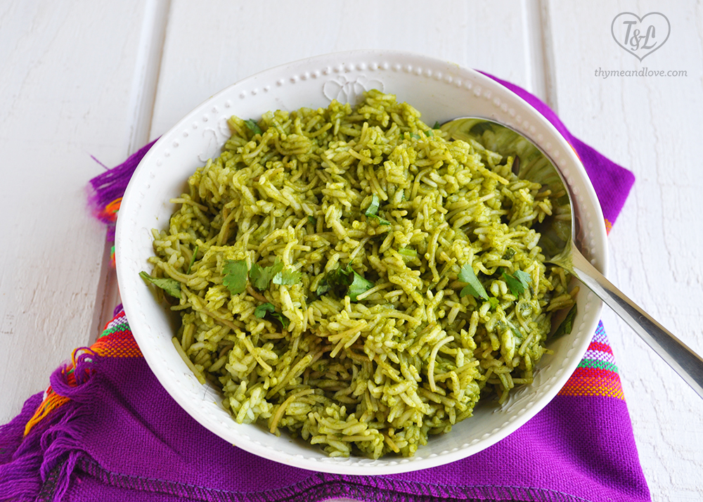 Mexican Green Rice with Fideo