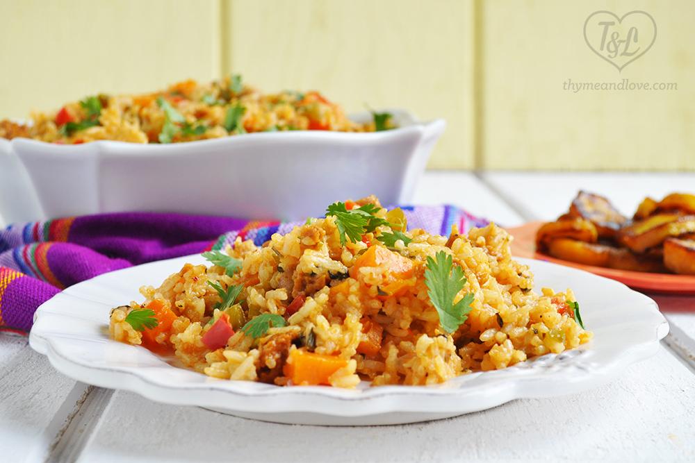 Vegan latin rice with chorizo thyme love vegan latin rice with chorizo forumfinder Images