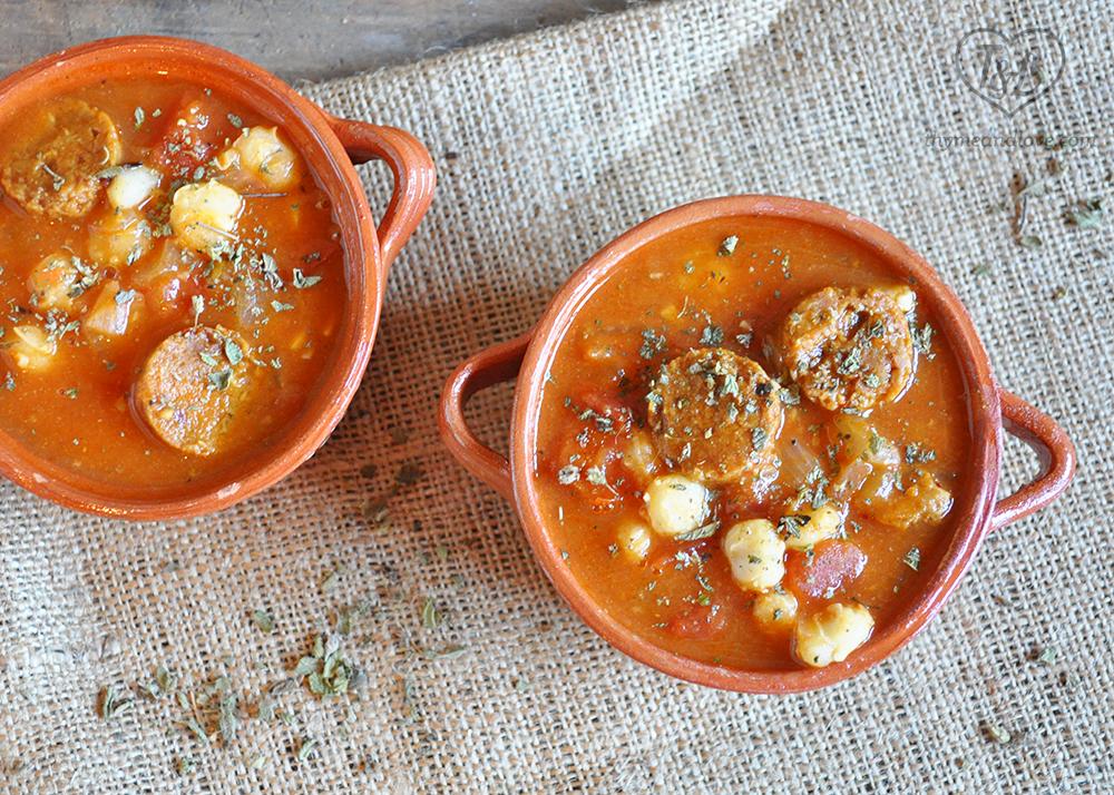 Chorizo + Hominy Stew