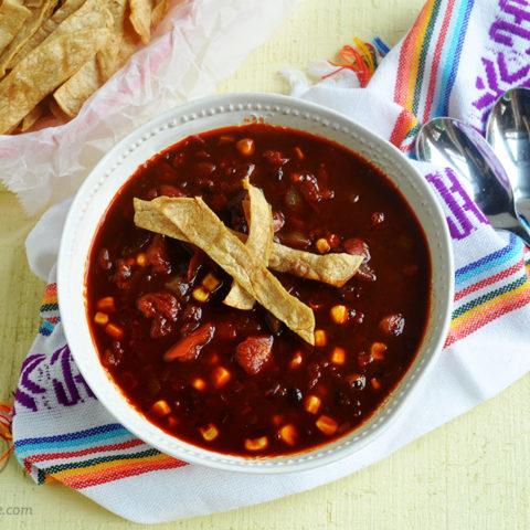 Ancho Black Bean Tortilla Soup