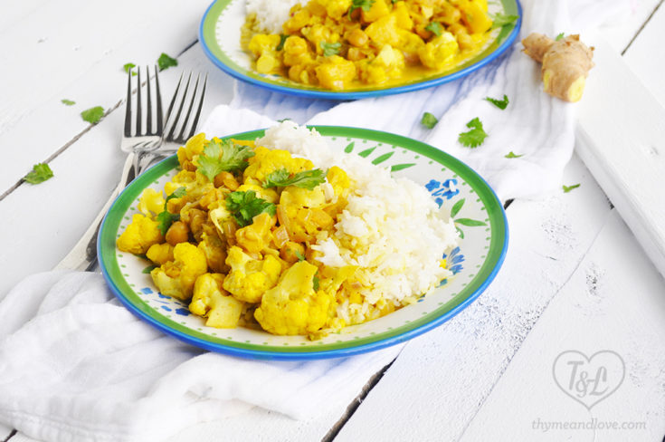 Chickpea Cauliflower Curry with Pineapple