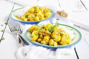 Chickpea Cauliflower Curry with Pineapple is an easy weeknight dinner that is healthy and comforting too!