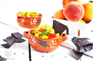 Fresh Peach Salsa is healthy, light and refreshing. Serve at your next fiesta!