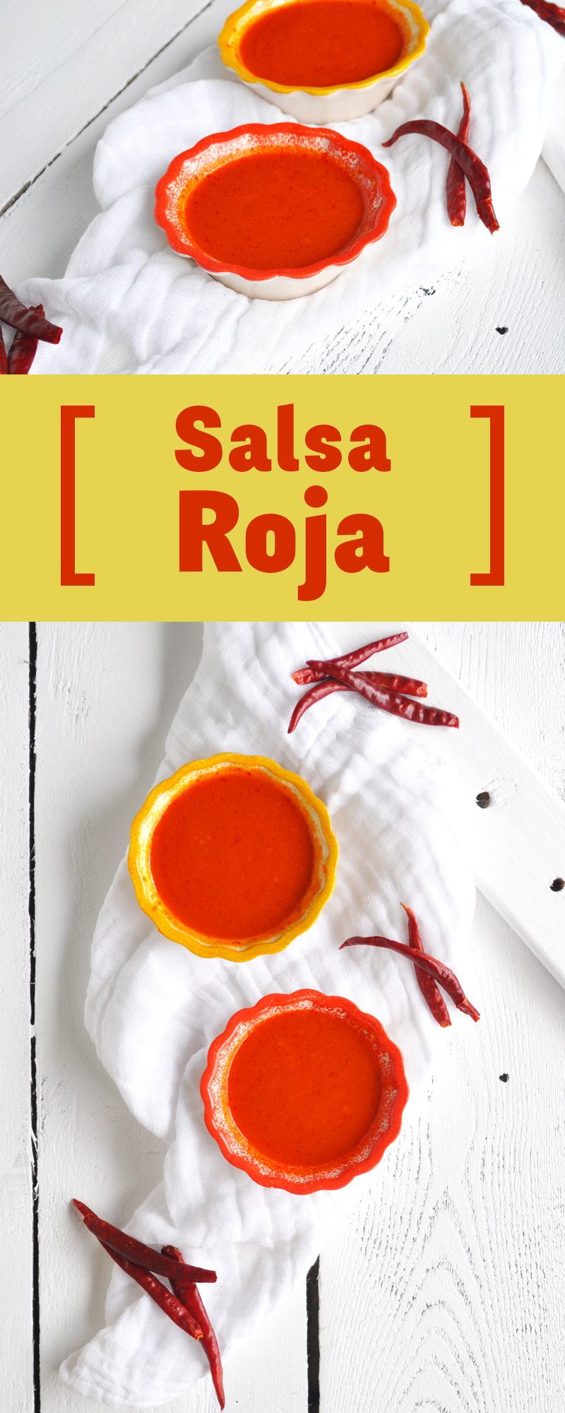 Mexican Salsa Roja: So easy to make and so much better than store-bought salsa! #mexican #salsa