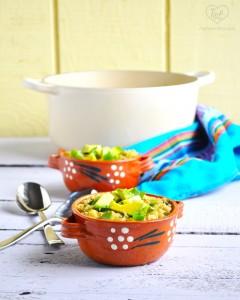 Delicious + Easy Quinoa Chili Verde featuring a tomatillo salsa verde base. Bright, light, and healthy! #vegan #glutenfree
