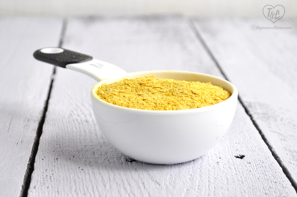 Nutritional Yeast creates a cheesy element to vegan potato soup!