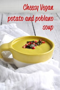 Only 9 ingredients are needed for this creamy, thick potato soup that gets a spicy kick from roasted poblano peppers!