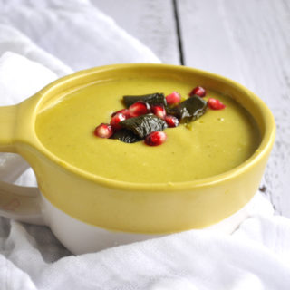 Vegan Cheesy Poblano Soup: thick, creamy and comforting! #glutenfree #vegan #plantbased