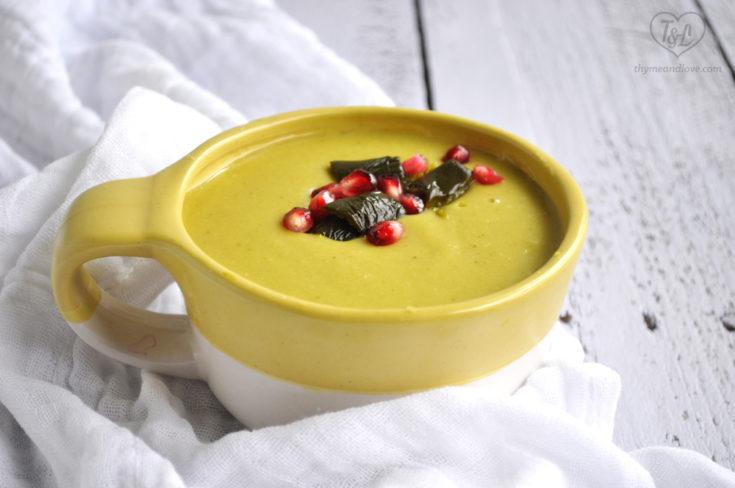Cheesy Vegan Potato and Poblano Soup