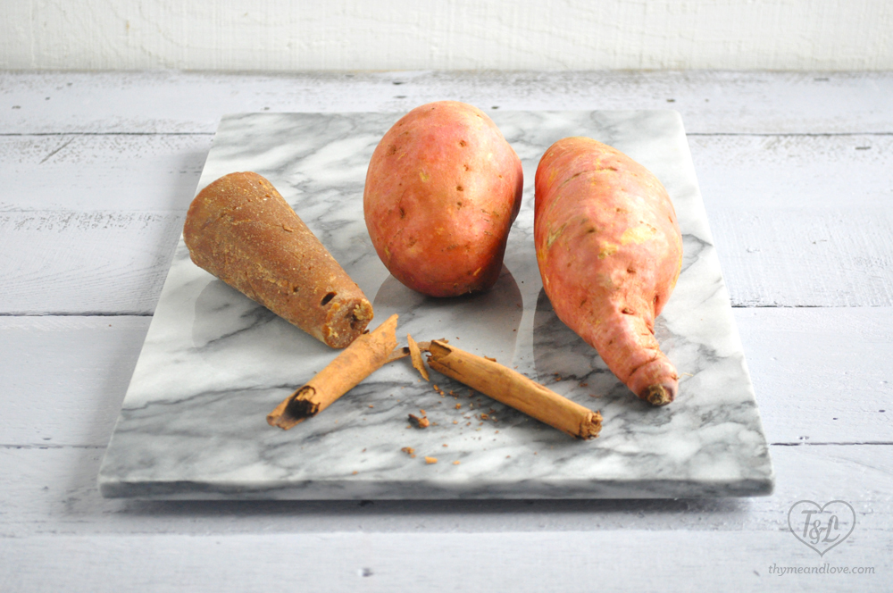 Mexican Candied Sweet Potatoes {Camotes Enimielado}: a traditional Mexican sweet recipe. Warm, comforting sweet potatoes in a rich, piloncillo syrup.