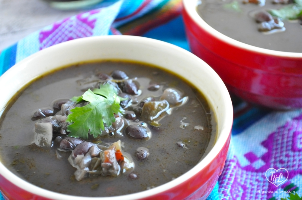 Venezuelan Black Bean Soup. Naturally Vegan + Gluten-free!