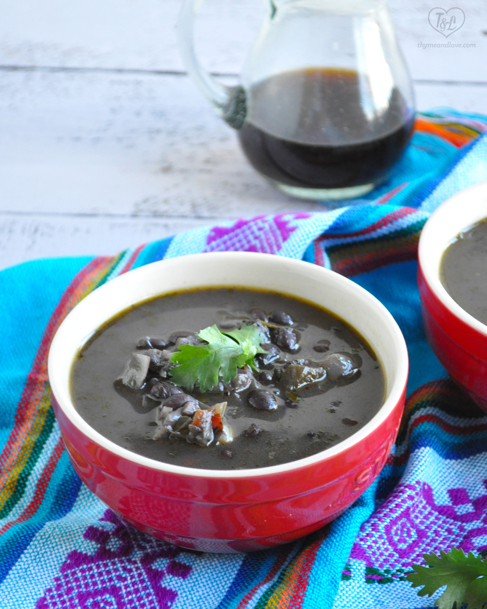 Venezuelan Black Bean Soup: is seasoned with a sofrtio base and a touch of piloncillo. #vegan #glutenfree #venezuelan