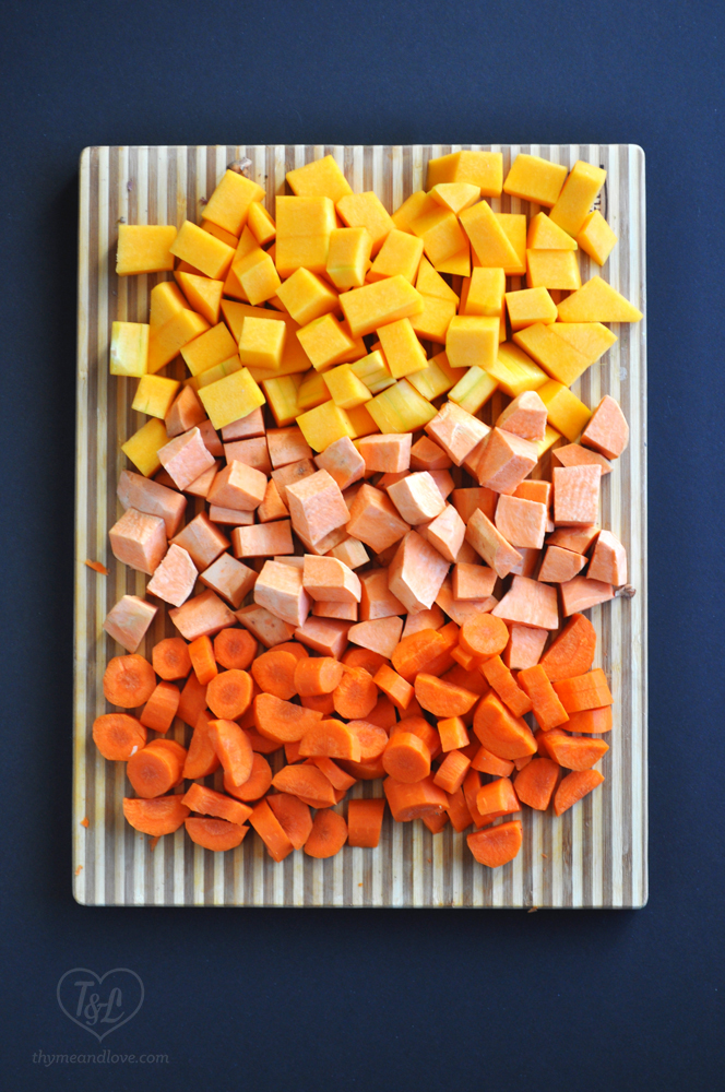 Vegetable base for Sweet Potato, Squash, and Carrot Soup