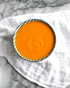 Sweet Potato, Squash and Carrot Soup is a healthy and nutritious soup. Perfect for a cold, snowy day! #vegan #glutenfree