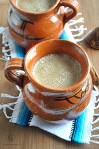 Mexican Atole de Vanilla is a traditional warm drink served during the holidays. #mexican #vegan #glutenfree