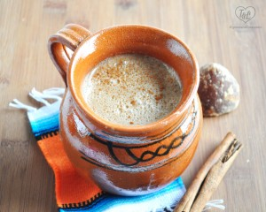 Atole de Vanilla: a warm beverage perfect during the holidays. #vegan #glutenfree #mexican