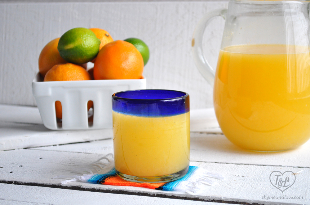 Orange Agua Fresca: light, refreshing drink that's perfect for winter. #drink #mexican #orange