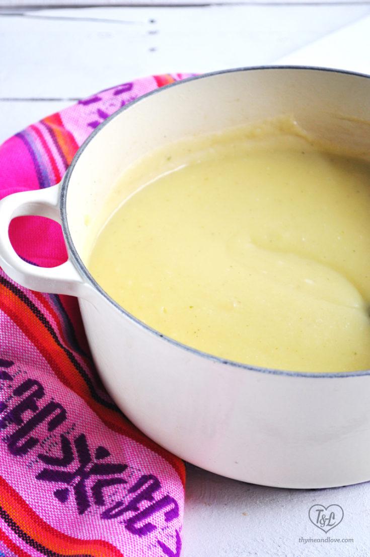 Potato Soup with Avocado
