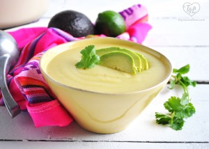 Creamy Potato Soup topped with creamy avocado slices. A healthy and satisfying soup! #vegan #glutenfree #soup