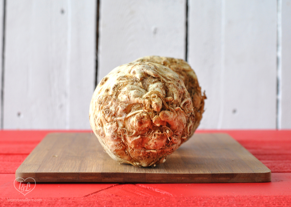 Celeriac- a low calorie root vegetable perfect for winter soups!