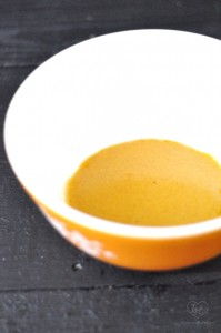 Curry based dressing for a light and healthy quinoa salad.