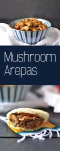 Vegan Venezuelan Mushroom Arepas. A sweet and tangy mushroom filling make a great vegan arepa filling option! #vegan #venezuelan |thymeandlove.com