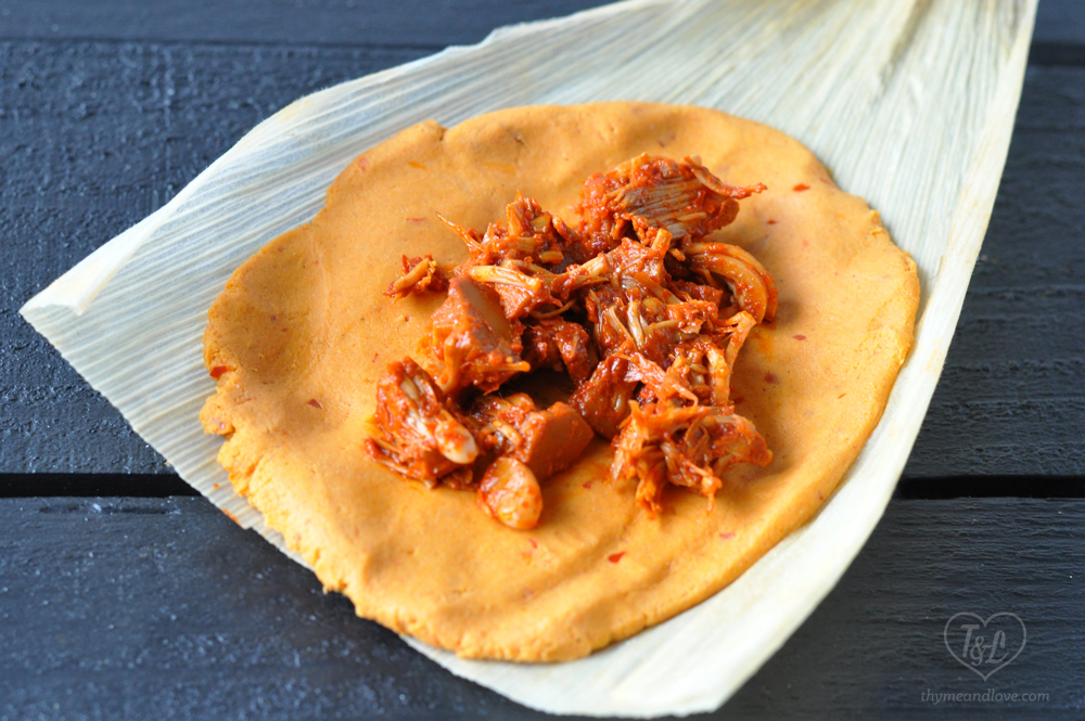 Vegan Red Chile Jackfruit Tamale