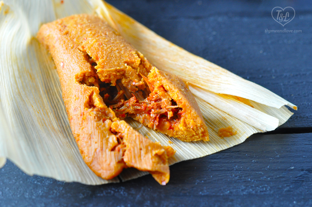 Vegan Red Chile Jackfruit Tamales from Dora's Table #vegan #tamales #vegantamales