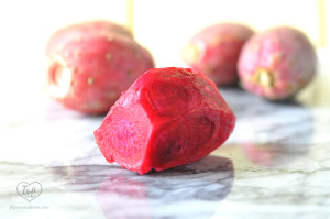 Prickly Pears make a light and refreshing agua fresca, perfect for Spring entertaining. #spring #pricklypear #mexican