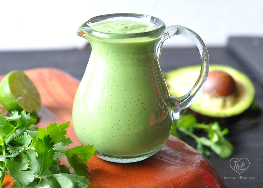 Creamy Vegan Cilantro Avocado Dressing #vegan #plantbased