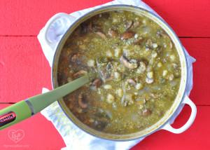 Vegan Mushroom Posole Verde with Quinoa #vegan #plantbased #mexican