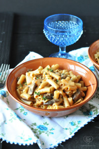 Vegan Mushroom Penne Pasta #vegan #pasta #mushrooms