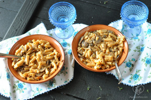 Vegan Mushroom Penne Pasta #pasta #vegan #plantbased