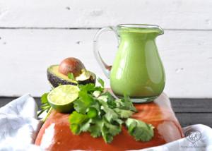 Creamy Vegan Cilantro Avocado Dressing #vegan #plantbased #avocado