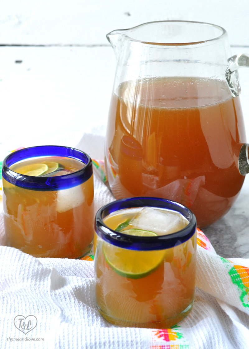 Papelon con Limon: a traditional Venezuelan cold beverage made from unrefined sugar + lime juice. Perfect way to quench your thirst! #drink #venezuelan #beverage