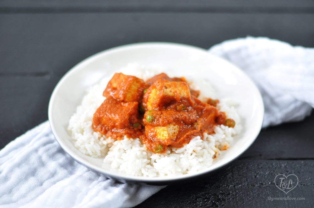 EASY Tofu simmered in a flavorful tomato chipotle sauce with creamy, rich coconut milk. Quick enough for a weeknight meal! #vegan #plantbased #tofu #glutenfree