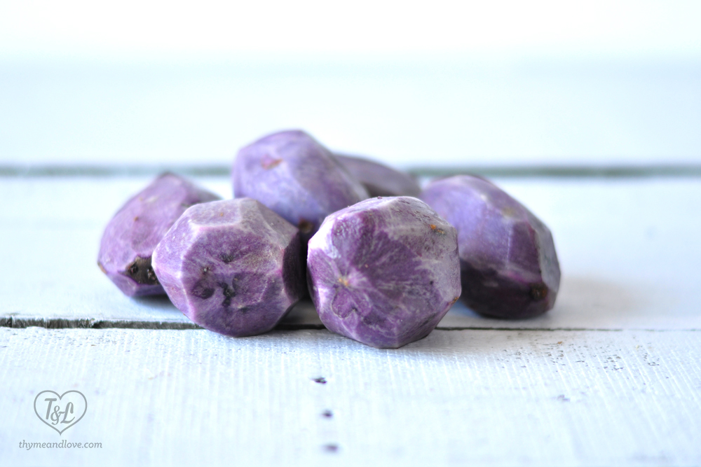 Purple potatoes are nutrient dense with antioxidants. #potatoes #produces #plantbased