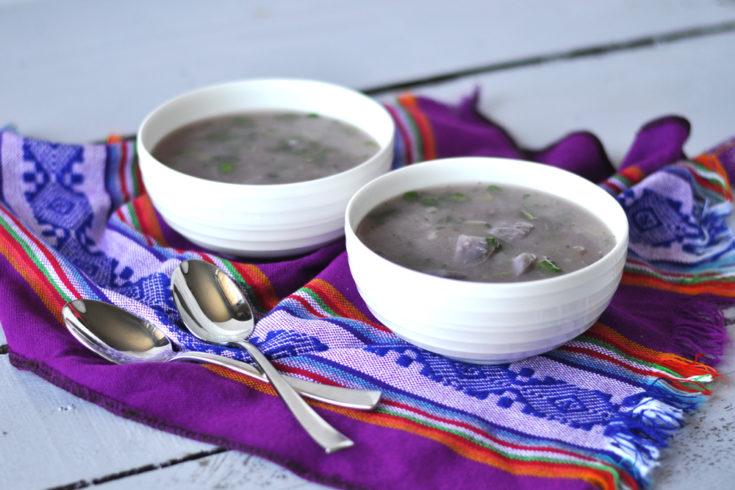 Purple Potato Soup