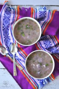 Purple Potato Soup: a light, healthy soup that is full of antioxidants! #vegan #soup #healthy #plantbased