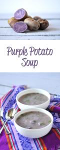 Purple Potato Soup: healthy, full of antioxidants! Yumm! #vegan #soup #glutenfree