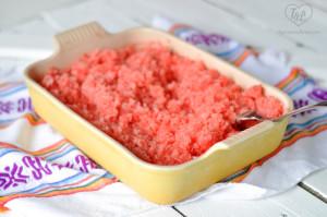Refreshing Watermelon Granita is the perfect summer treat to cool you down. #vegan #dessert #summer